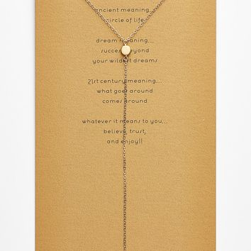 Dogeared 'The Circle' Boxed Y-Necklace