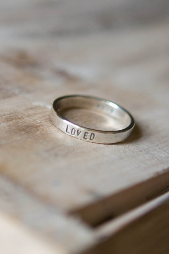 Hand Stamped Ring - Sterling Silver - Custom Name or Word Ring