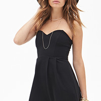 FOREVER 21 Ribbed Sweetheart Dress