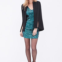 LOVE 21 Sequin Bodycon Dress Green