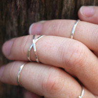thin sterling silver first knuckle rings set of three tiny delicate stackable rings for above knuckle