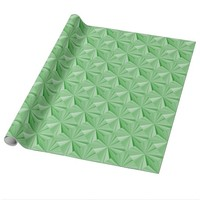 Spring Green Diamond Glossy Wrapping Paper by Janz