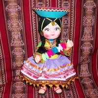 Peruvian Design Dolls with a Typical Andean Costume.