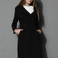 Variety Queen Coat and Skirt Set in Black Black
