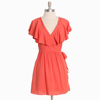 belize flow coral wrap dress - $38.99 : ShopRuche.com, Vintage Inspired Clothing, Affordable Clothes, Eco friendly Fashion