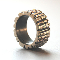 Sterling Silver Oxsidized Unisex Ring