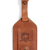 Men's Trask 'Jackson' Bison Leather Luggage Tag
