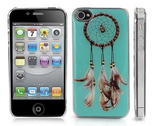 Transparent Snap-On Clear iPhone Cover Case for 4/4S iPhone -Dream Catcher Design - Height:4.5 Inches X Width: 2.5 Inches X Thickness:0.5 Inches.personalized Design Is Available with a Minimum of 20 Pcs Orders.: Jewelry: Amazon.com