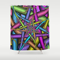 Star Fractal Shower Curtain by Christy Leigh | Society6