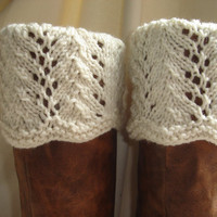 Boot Toppers - Scalloped Feather &amp; Lace