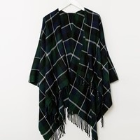 New Look Plaid Wrap Cape