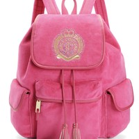 ICONIC CREST VELOUR BACKPACK