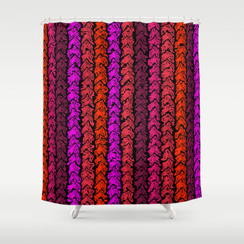 Moroccan Spice Twist Shower Curtain by Alice Gosling