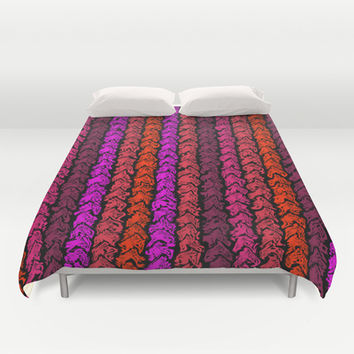 Moroccan Spice Twist Duvet Cover by Alice Gosling