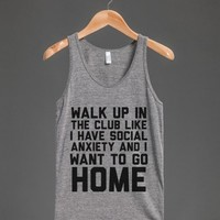 Athletic Grey T-Shirt | Funny Anti Social Shirts