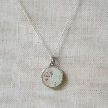 Dana Klopfer Designs :: Custom Vintage Map Necklace, Two Cities