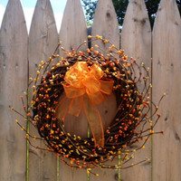 Pip Berry Wreath, Fall, Woven 10 inch