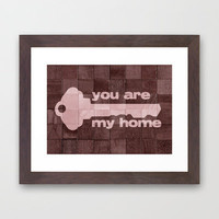 you are my home Framed Art Print by ElephantTrunkStudio | Society6