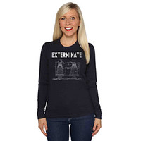 Exterminate Ladies' Long Sleeve Tee - Blue,