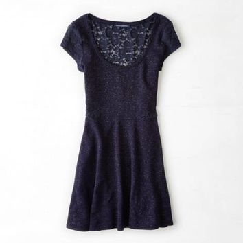 AEO SHIMMERY LACE INSET KATE DRESS