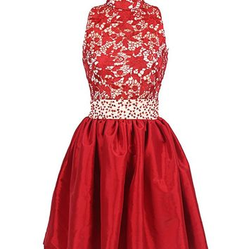Fabulous Red Stain Dress Homecoming Dress Cocktail Dress