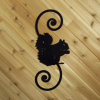 Metal Art Metal Garden Decor Squirrel By PrecisionCut