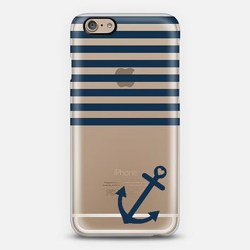 Navy Blue Nautical Transparent iPhone 6 case by Organic Saturation | Casetify