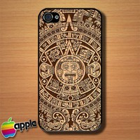 Mayan Calender Custom iPhone 4 or 4S Case Cover