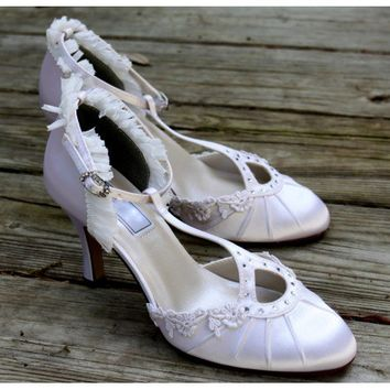 "Flapper style wedding shoes, Model ""Ava"""