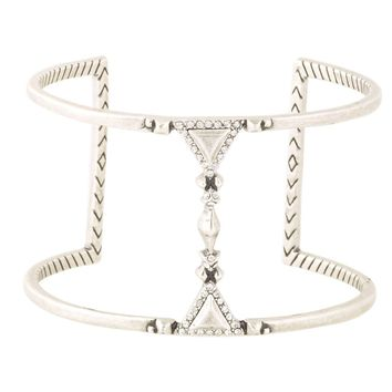 House of Harlow 1960 Jewelry Tres Tri Cut Out Cuff