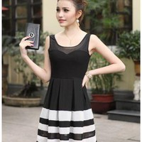 HEGO Waist Big Swing Dress FG010H