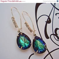 Summer SALE 15% Off Bridal Party Earrings, Blue Earrings, Summer Fashion, Boho Chic, Vintage Earrings, BERMUDA