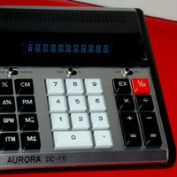 Vintage Aurora DC-10 10-Digit Desk Top Electric Calculator