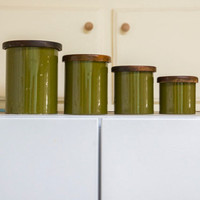 Green Copco canister set