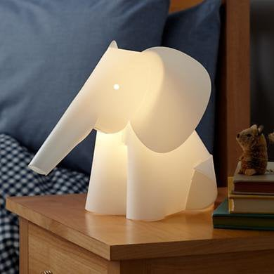 The Land of Nod: Kids' Nightlights: Elephant Lamp Nightlight in Nightlights