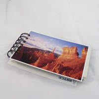 Bryce Canyon Postcard  Notebook Journal Recycled Paper Upcycled Green Handmade Eco Friendly Nature Photography 100 pages