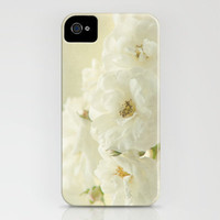 white roses iPhone Case by Sylvia Cook Photography | Society6