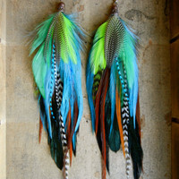 Pixie Dust Extra Long Feather Earrings