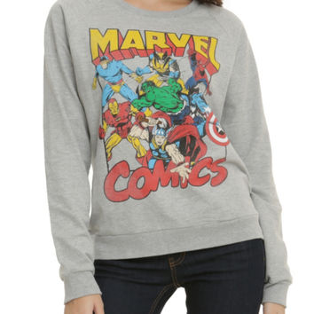 Marvel Retro Characters Girls Pullover Top
