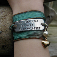 The Hunger Games Bracelet Wrap - May The Odds Be Ever In Your Favor STAMPING