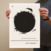 Original Illustration - Kurt Vonnegut quotation - Fine Art Prints - Art Posters - Literature inspired art