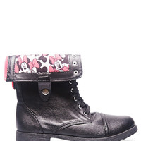 Minnie™ Foldover Combat Boots | Wet Seal