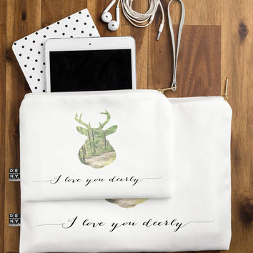 Allyson Johnson I Love You Deerly Silhouette Pouch