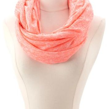 Marled Neon Infinity Scarf by Charlotte Russe - Neon Pink