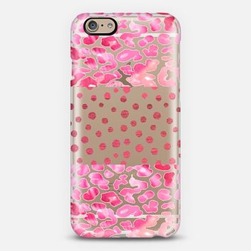 Pink Leopard And Dots - Phone Case iPhone 6 case by Nika Martinez | Casetify