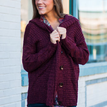 All I Needed Cardigan, Burgundy