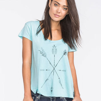 Life Clothing Co. Arrow Sketch Womens Tee Ice Blue  In Sizes