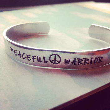 Peaceful warrior barcelet