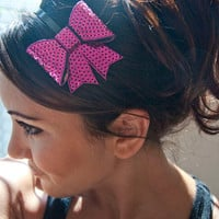 3Dimensional Hot Pink Sequin Bow Headband