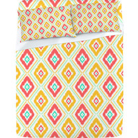 DENY Designs Home Accessories | Jacqueline Maldonado Zig Zag Ikat White Sheet Set